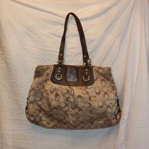 Coach 20263 Ashley Signature Metallic Carryall Bag